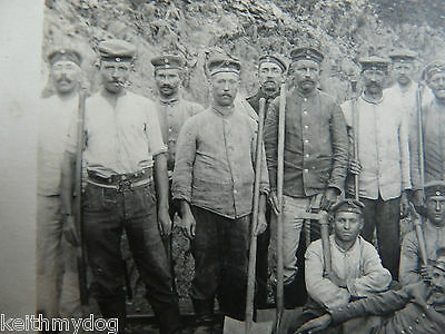 Group of German Soldiers,Work Party-Original WW1 German Military Photograph