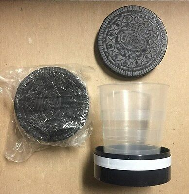 Oreo Cookie Travel Portable Collapsible Drinking Cup Set of 2 Oreo's 6 oz