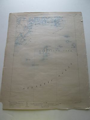 Tenants Harbor, Maine Topo Map, 1904 Survey,  1906 Edition, Reprinted 1920