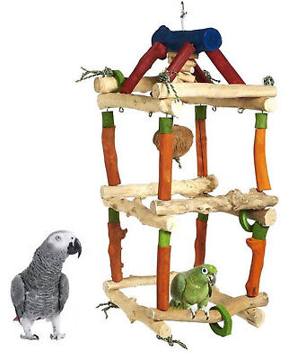 Java Double Tower Medium Parrot Cage Toy African Greys,amazons, 4603Ay72