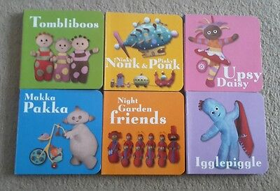 In the night Garden set of six hardback books brand new