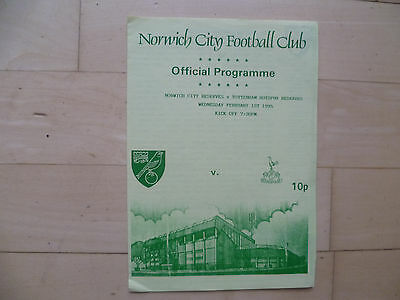 Norwich City reserves v Spurs reserves 1995 Football Combination