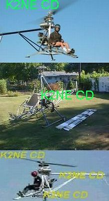 Home Built Experimental Helicopter Plans On Cd - Very Rare Free Extra Included