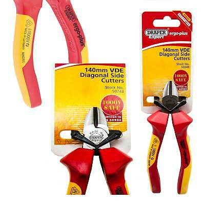 Draper Expert Fully Insulated VDE Electricians Diagonal Side Cutters 140mm