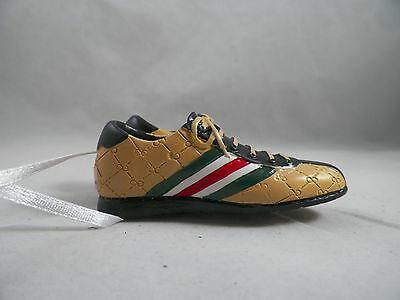 Brown and Black Striped Sneakers Christmas Tree Ornament new holiday