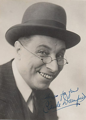 Claude Dampier Vintage Large Hand Signed Photo