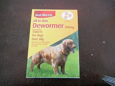 Bob Martin All In One Dewormer 500 mg for Large Dogs over 6kg