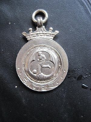 1938 SANDWICH (KENT) CHARITY CUP SILVER FOOTBALL MEDAL or POCKET WATCH FOB
