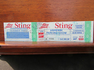 Sting Police Concert Ticket Stub San Paulo Brazil 6th December 1987 Rainforests