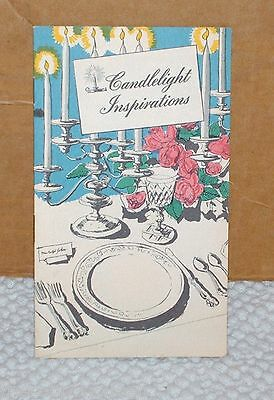 Vintage Candlelight Inspirations Booklet from Candle Shops the Standard Oil Co.