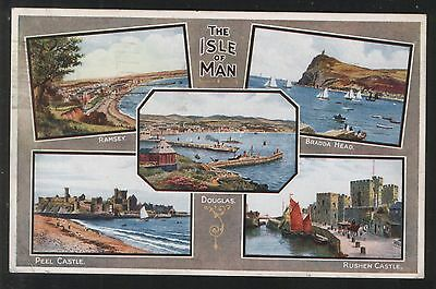 Postcard - Artist Views of The Isle of Man - posted in 1946. A.R.Quinton.....