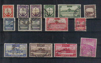 Pakistan 1948-56 Used values to 10Rs