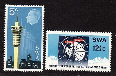 $South West Africa Sc#333-334 M/NH/VF, complete set, Cv. $52.50