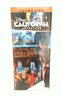 Disneyland Disney California Adventure Tower Of Terror Guide Map  2016 Now Gone!