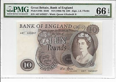 Great Britain - Bank of England - 10 pounds, nd (1966-70). PMG 66EPQ.