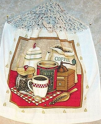Kitchen Towel Coffee Grinder Decor Red Brown NEW