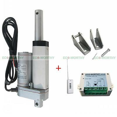 2'' 12V 330lbs Linear Actuator & Wireless Motor Controller W/ Mount Brackets