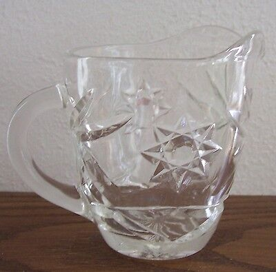 VINTAGE EAPC Crystal STAR-OF-DAVID 6 oz Creamer