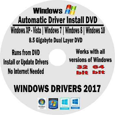 DRIVERS Recovery Disk DRIVER Restore DVD for XP Vista 7 8 10 Windows Laptop PCs