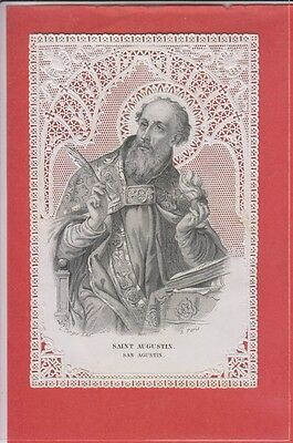 Paper Lace Holy Card  1860's Saint Augustine