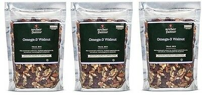 3 pk Archer Farms Omega-3 Walnut Trail Mix 7.5 oz