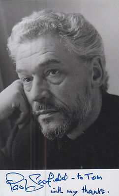Paul Scofield Vintage Hand Signed Photo