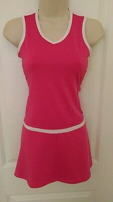 Girls pink & white tennis dress from FILA sz LARGE (12-14) Ages 9-11