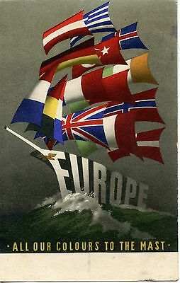 Carte Postale / Europe / All Our Colours To The Mast