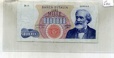 Italy 1963 1000 Lire Currency Note Vf 6439F