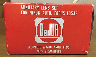 DeJUR Auxiliary Lens Set For Nikon Auto Focus L35AF Telephoto & Wide Angle