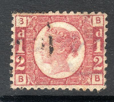 1870 SG 49 1/2d Rose Plate 15 Very Fine Used.  Cat £40.00