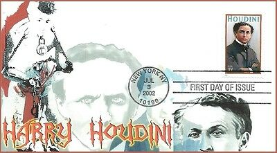 Magician Illusionist Harry Houdini First Day of Issue Cover #3651
