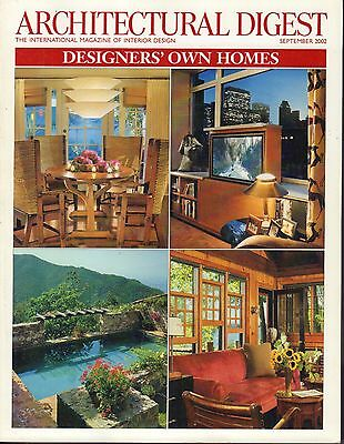 Architectural Digest September 2002 Designers' Own Homes 021517DBE