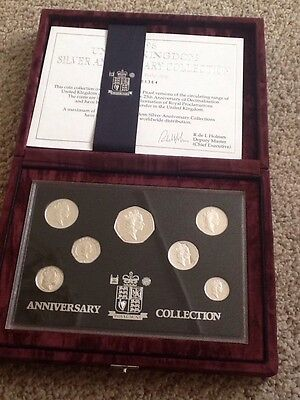 1996 Uk Silver Proof Anniversary Collection Set.