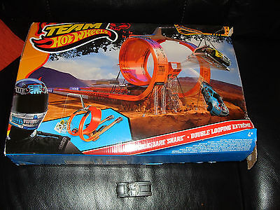 Rare Hot Wheels Double Dare Snare Track Set 1 car corvette