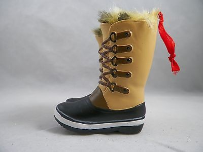 Tall Brown Winter Boots with Fur Christmas Tree Ornament new holiday