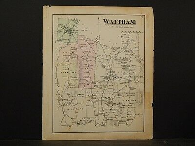 Vermont, Addison County Map, 1871, Waltham Township, Y4#85