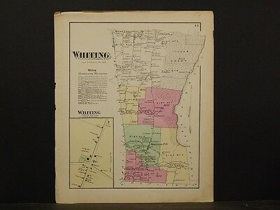 Vermont, Addison County Map, 1871, Whiting Township, Y4#88