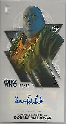 TOPPS DR. WHO, TENTH DOCTOR ADVENTURES autograph card -SIMON FISHER-BECKER #2/10