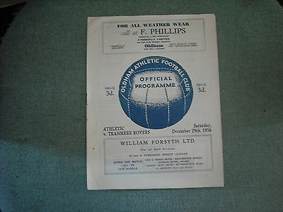 Oldham Athletic  V  Tranmere Rovers  (Div 3 North)  29-12-56