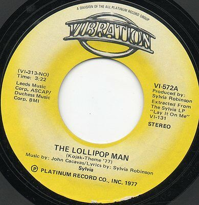 Sylvia - The Lolipop Man - Northern Soul - Usa Import - Kojack Theme - Nr Mint