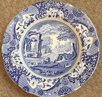 Spode Blue Italian 9 Inches  Rimmed Soup Bowl C.1816 W Excellent Never Used
