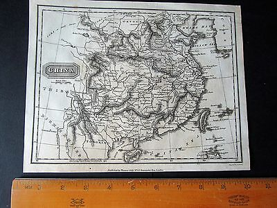 "ANTIQUE MAP - CHINA - 10"" by 8"" - UNIVERSAL GEOGRAPHY - CHRISTOPHER KELLY 1814"