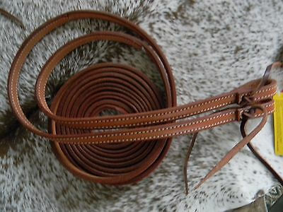 MEDIUM Oil Leather 8 Foot Long Split Western Leather Reins Nice Quality Leather