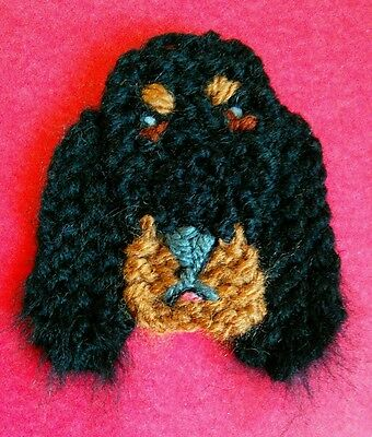 knitted Gordon setter brooch NEW !