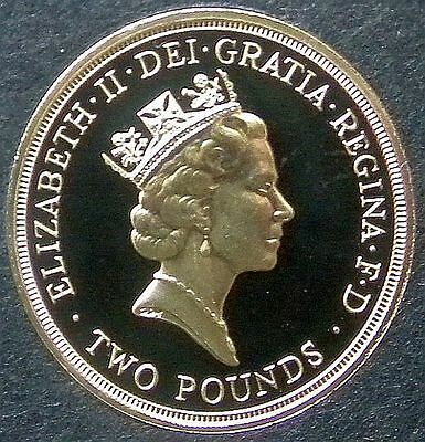 1986 Proof Two Pounds...fdc