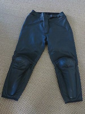 Dainese black leather motorbike motorcycle trousers 34 waist