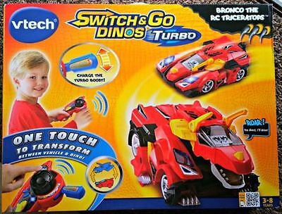 Vtech Switch & Go Dinos Remote Control Turbo Bronco the Triceratops NEW