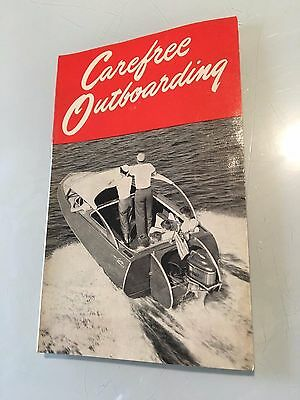 Carefree Outboarding Advertising Booklet from Texaco Motor Oil Gasoline Boating