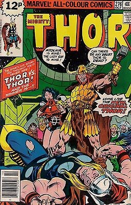 THOR # 276  MARVEL COMICS  ROY THOMAS / JOHN BUSCEMA  1978  f+(6.5)  ~~